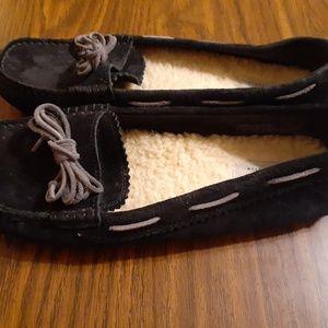 UGG black moccasins 10